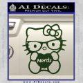 Hello Kitty Loves Nerds Decal Sticker Dark Green Vinyl 120x120