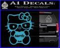 Hello Kitty Loves Nerds Decal Sticker Light Blue Vinyl 120x97