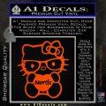 Hello Kitty Loves Nerds Decal Sticker Orange Emblem 120x120