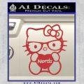 Hello Kitty Loves Nerds Decal Sticker Red 120x120