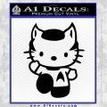Hello Kitty Spock Decal Sticker Black Vinyl Black 120x120