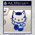 Hello Kitty Spock Decal Sticker Blue Vinyl Black 120x120
