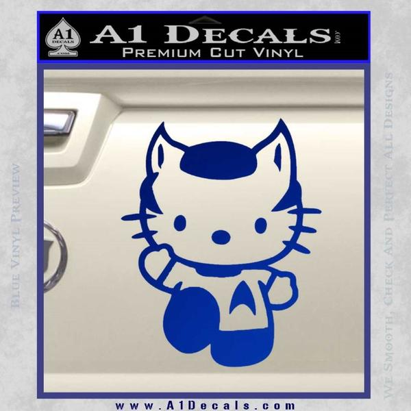 Hello Kitty Spock Decal Sticker Blue Vinyl Black
