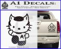 Hello Kitty Spock Decal Sticker CFB Vinyl Black 120x97