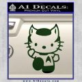 Hello Kitty Spock Decal Sticker Dark Green Vinyl Black 120x120