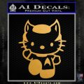 Hello Kitty Spock Decal Sticker Gold Metallic Vinyl Black 120x120