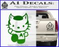 Hello Kitty Spock Decal Sticker Green Vinyl Black 120x97