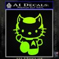 Hello Kitty Spock Decal Sticker Neon Green Vinyl Black 120x120
