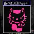Hello Kitty Spock Decal Sticker Neon Pink Vinyl Black 120x120