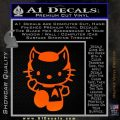 Hello Kitty Spock Decal Sticker Orange Emblem Black 120x120