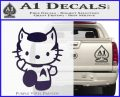 Hello Kitty Spock Decal Sticker Purple Vinyl Black 120x97