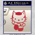 Hello Kitty Spock Decal Sticker Red Vinyl Black 120x120