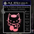 Hello Kitty Spock Decal Sticker Soft Pink Emblem Black 120x120