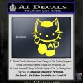 Hello Kitty Spock Decal Sticker Yellow Vinyl Black 120x120