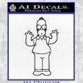 Homer Simpson Decal Sticker Black Vinyl Black 120x120