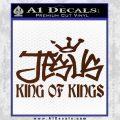 Jesus King Of Kings Decal Sticker BROWN Vinyl 120x120