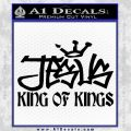 Jesus King Of Kings Decal Sticker Black Vinyl 120x120