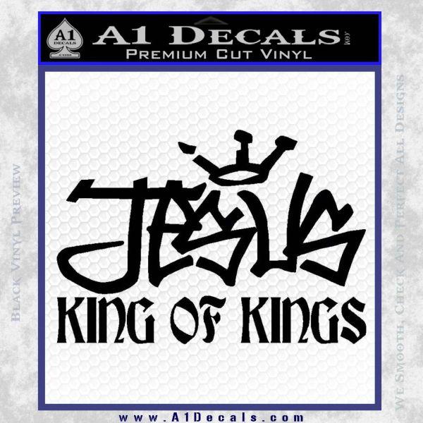 Jesus King Of Kings Decal Sticker Black Vinyl