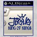 Jesus King Of Kings Decal Sticker Blue Vinyl 120x120