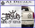 Jesus King Of Kings Decal Sticker Carbon FIber Black Vinyl 120x97