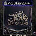 Jesus King Of Kings Decal Sticker Carbon FIber Chrome Vinyl 120x120