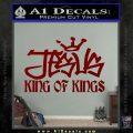 Jesus King Of Kings Decal Sticker DRD Vinyl 120x120
