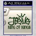 Jesus King Of Kings Decal Sticker Dark Green Vinyl 120x120