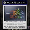 Jesus King Of Kings Decal Sticker Glitter Sparkle 120x120