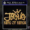 Jesus King Of Kings Decal Sticker Gold Vinyl 120x120