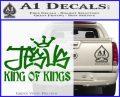 Jesus King Of Kings Decal Sticker Green Vinyl Logo 120x97
