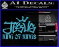Jesus King Of Kings Decal Sticker Light Blue Vinyl 120x97