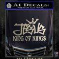 Jesus King Of Kings Decal Sticker Metallic Silver Emblem 120x120