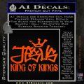 Jesus King Of Kings Decal Sticker Orange Emblem 120x120