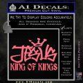 Jesus King Of Kings Decal Sticker Pink Emblem 120x120