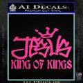 Jesus King Of Kings Decal Sticker Pink Hot Vinyl 120x120