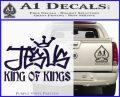 Jesus King Of Kings Decal Sticker PurpleEmblem Logo 120x97