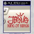 Jesus King Of Kings Decal Sticker Red 120x120
