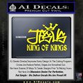 Jesus King Of Kings Decal Sticker Yellow Laptop 120x120