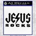 Jesus Rocks Decal Sticker Black Vinyl 120x120