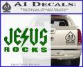 Jesus Rocks Decal Sticker Green Vinyl Logo 120x97