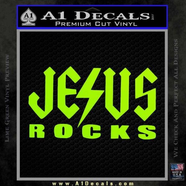 Car Ac Not Cold >> Jesus Rocks Decal Sticker AC/DC » A1 Decals