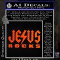 Jesus Rocks Decal Sticker Orange Emblem 120x120
