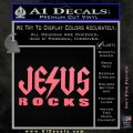 Jesus Rocks Decal Sticker Pink Emblem 120x120