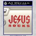 Jesus Rocks Decal Sticker Red 120x120
