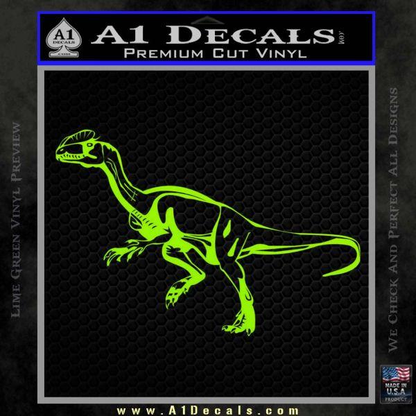 Jurassic Park Velociraptor D1 Decal Sticker Lime Green Vinyl
