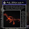 Jurassic Park Velociraptor D1 Decal Sticker Orange Emblem 120x120