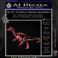 Jurassic Park Velociraptor D1 Decal Sticker Pink Emblem 120x120