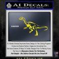 Jurassic Park Velociraptor D1 Decal Sticker Yellow Laptop 120x120