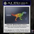 Jurassic Park Walking T Rex Decal Sticker Glitter Sparkle 120x120