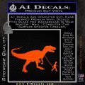Jurassic Park Walking T Rex Decal Sticker Orange Emblem 120x120